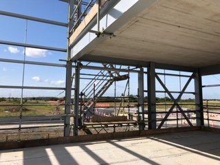 Image of the new ground floor office looking towards the A180