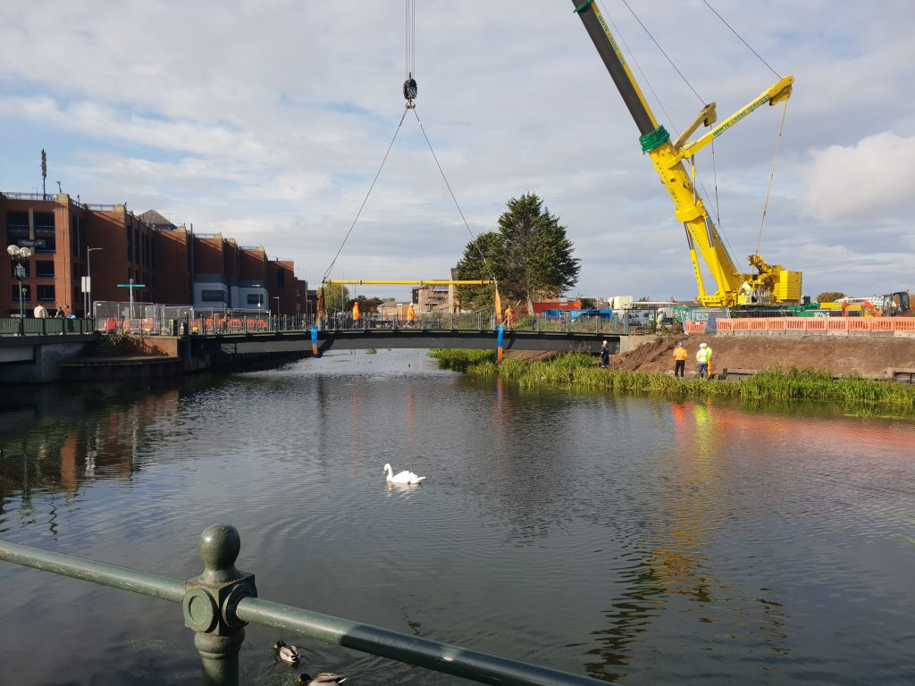Garth Lane Bridge ready for being lifted