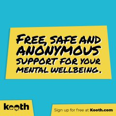 Free, safe and anonymous support for your mental wellbeing