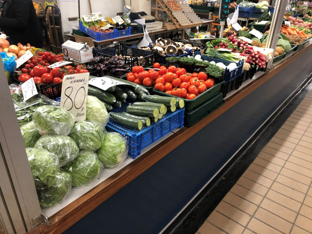 Fresh produce at Grimsby Top Town Market