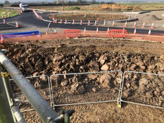 New roundabout being constructed on the A1173