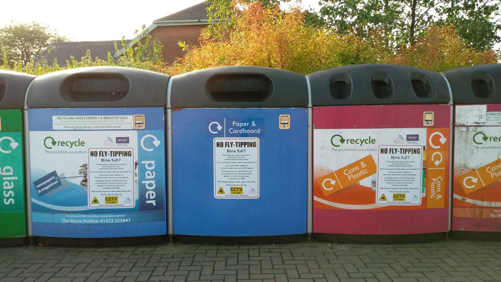 A recycling bank in Grimsby
