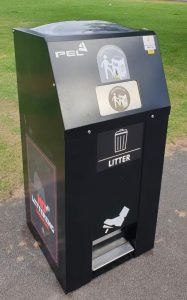 A solar power litter bin