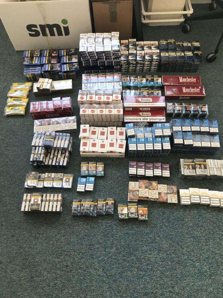 Image of the seized illicit tobacco