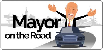 Mayor on the road graphic