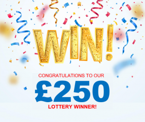 £250 winner on Winsby Community Lottery