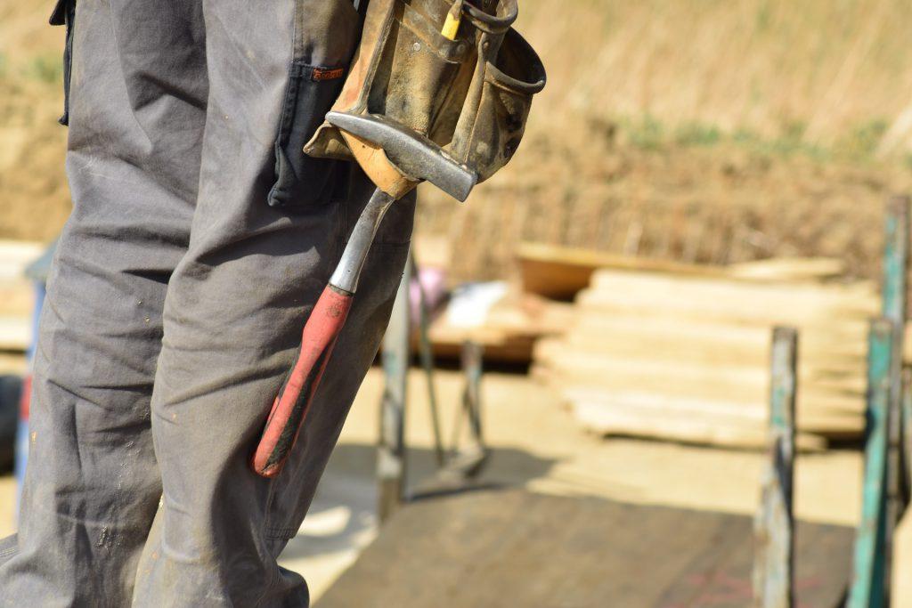 Stock photo of builder