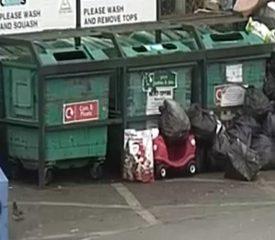 Rubbish dumped at Garibaldi Street car park 26-12-19
