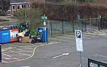 Rubbish dumped at Waltham Road recycling bank