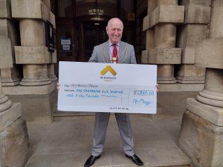 St Andrew's cheque handover